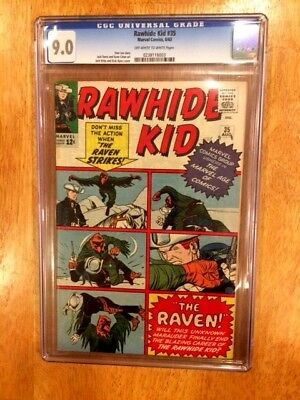 RAWHIDE KID #35 (Aug 1963 Marvel) Intro & Death of THE RAVEN! CGC 9.0 OW/W Pages