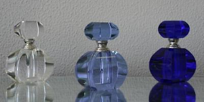 Crystal Glass Perfume Bottle ( blue or purple) with Gift box