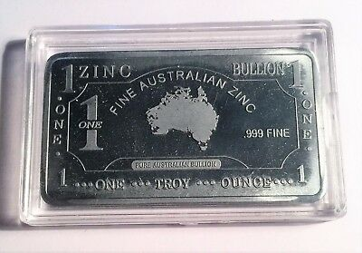 1 Oz Map Of Australia 999 Solid Zinc Ingot  50mm x 28mm x 3 mm Bargain Clearance