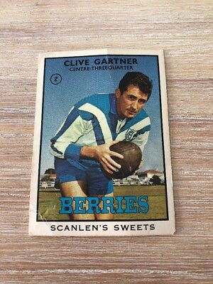 1968 Scanlens Rugby League Card - Clive Gartner