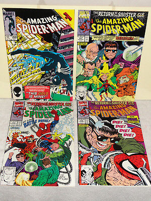 Marvel AMAZING SPIDER-MAN (VOL 1) 4 BOOK LOT # 268 337 338 339 SINISTER SIX VF