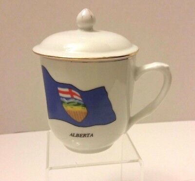 Alberta  Provincial Flag Coffee Tea Cup Lid Canada Collection