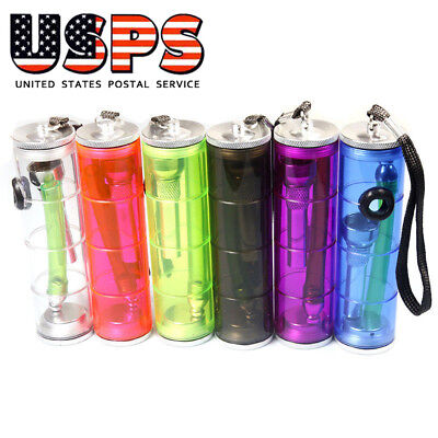 Top Puff Portable Water Mini Hookah Tobacco Smoking Pipe Acrylic Bong (Random)