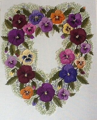 'Heartsease'- a Crewel Embroidery kit from Needlewoman Studio