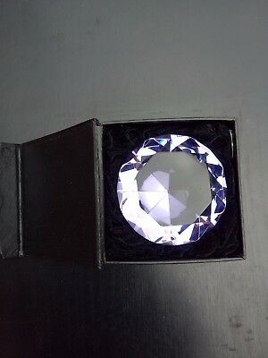 Crystal Glass diamond ( pink or purple) with Gift box