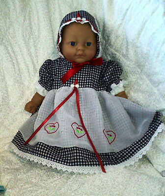 Unique reborn doll 2pce dress set.for 19 to 20 inch baby