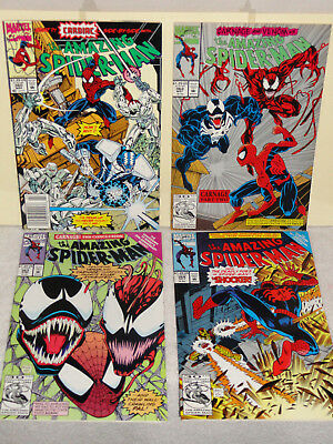 Marvel AMAZING SPIDER-MAN (VOL 1) 4 BOOK LOT # 360 362 363 364 CARNAGE VENOM VF