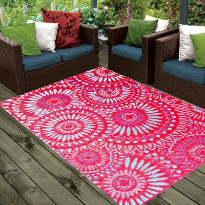 **ECO-FRIENDLY** Indoor/Outdoor Rug - Chatai 2023 - Red/Blue- 150x240- RRP $150