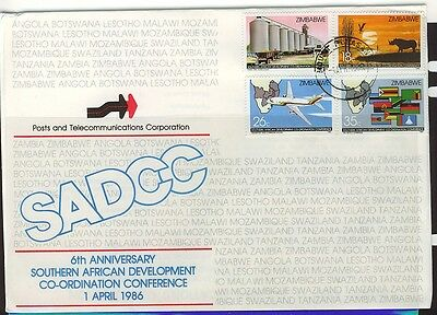 Zimbabwe  1986 Development Conference First Day Cover - Unaddressed