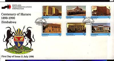 Zimbabwe  1990 Harare Centenary First Day Cover - Unaddressed