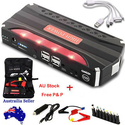 12V 68800mAh Portable Car Jump Starter Booster 4USB Battery Power Bank Charger