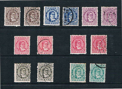 Cook Is. 1893 Queen Makea - Parallel MINT & USED 12x12½ - SC 9-14 [SG 5-10]17tf