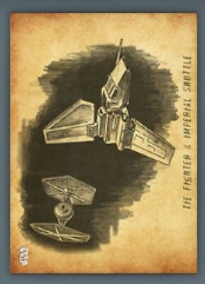 Tie Fighter & Shuttle-Parchment-Graphite Series 3-Topps Star Wars Card Trader