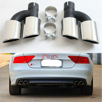 Rear Exhaust Tips Muffler Pipes for Audi A4 A5 A6 A7 To S4 S5 S6 S7 Style
