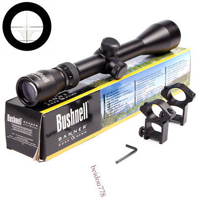New 3-9 X40 Bushnell Hunting Riflescope Mil-dot Tactical Optics Scope with Mount
