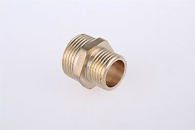 1/2BSP to 3/8BSP Male Thread Brass Pipe Hex Nipple Fitting 5 Pcs