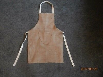 Child's sacking apron.