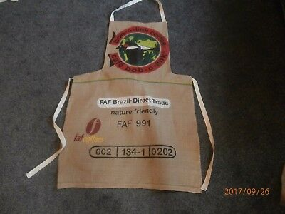 Coffee sack apron.