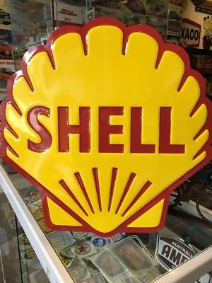 "Shell 24"" Diecut Repro Al Sign"