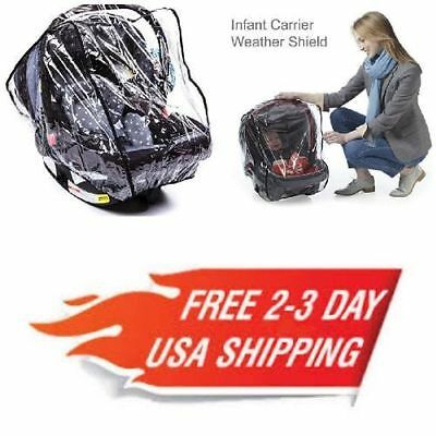 Universal Baby Car Seat Protection Rain Cover Infant Carrier Weather Shield