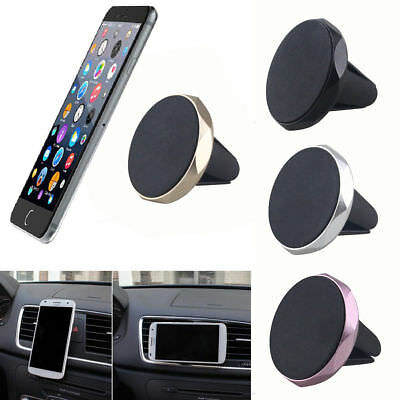 Universal Car Air Vent Magnetic Holder Mount Cradle Stand For IPhone GPS Silber