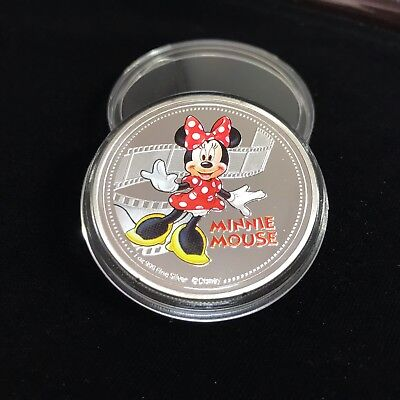 New Zealand Disney Cartoon Character Minnie Mouse  Silver Plated coin 2017