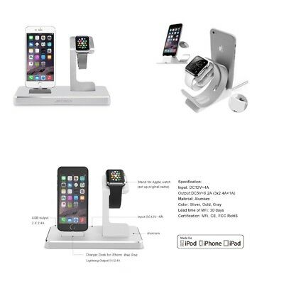 New 3 in 1 certified charger dock charging station for mobile iphone applewatch