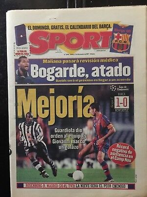 FC Barcelona,1-Newcastle,0.Champions League 1997.programme,newspaper