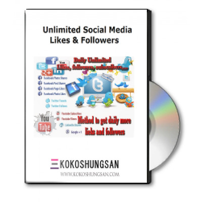 58 scripts for getting Unlimited Social Media Likes & Followers