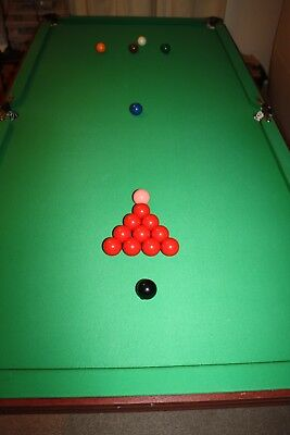 Folding 6 feet x 3 feet pool and snooker table. Ideal Christmas present