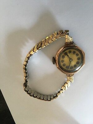 Antique Ladies Gold Watch For Spares Or Repair