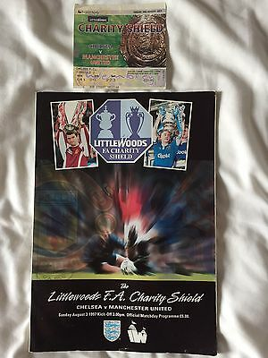 1996 FA Charity Shield, Manchester United V Chelsea, Programme & Ticket Stub