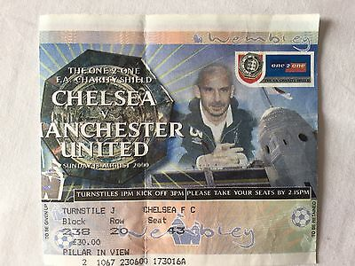 2000 Charity Shield Ticket Stub, Chelsea V Man Utd