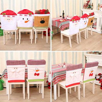 Santa Red Hat Chair Covers Christmas Decorations Dinner Chair Xmas Cap Sets VL02