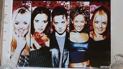 "SPICE GIRLS, commercial poster, ""spiceworld the tour"", glitter letters, 1998"