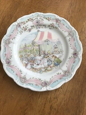 Royal Doulton Bramley Hedge Plate The Wedding