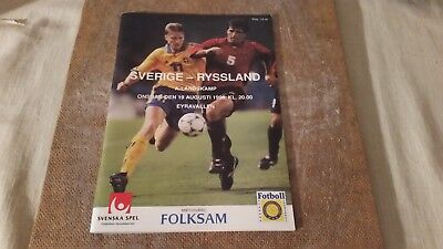 Program Rare? football Friendly Sweden Russia Sovet 1998 08 19 in Örebro Sweden