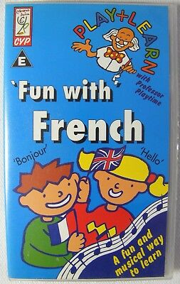 Fun With French VHS Video Tape - Childrens Learn To Speak Professor Playtime