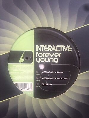"""Interactive - Forever Young 12"""" Vinyl Single Good Condition"""