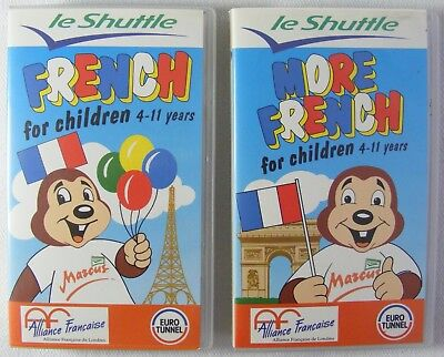 Le Shuttle - French For Children 4-11 Years - 1 & 2 VHS Video Tape - Learn More