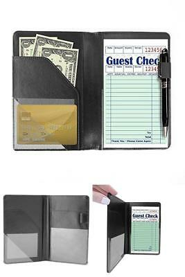Waiter Book Server Wallet 9 Pocket Organizer Includes Zipper Pouch Server Pad
