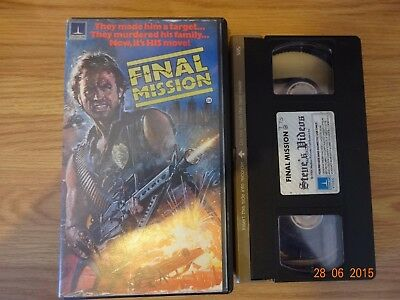 Final Mission Vhs Pre Cert Small Box Thorn Emi Home Video.