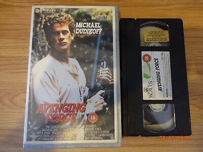 Avenging Force Vhs Pre Cert Big Box Mgm Home Video.