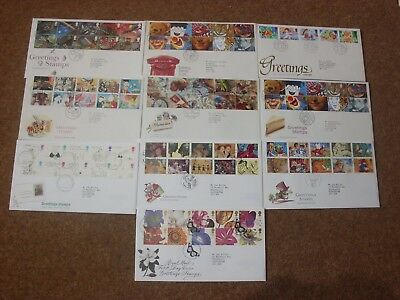 Excellent Collection 1989-97 GB Greetings FDCs - all spec HS (10) - rf265
