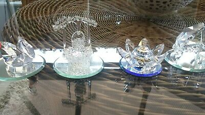crystal ornaments x4