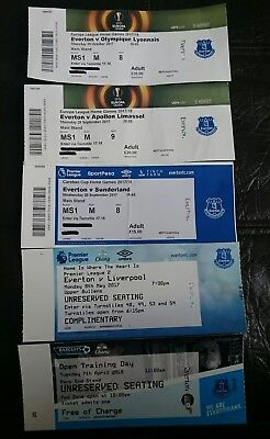 Everton used ticket stubs carabao cup europa league