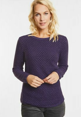 CECIL - Struktur Pullover Henriette in Dark Purple
