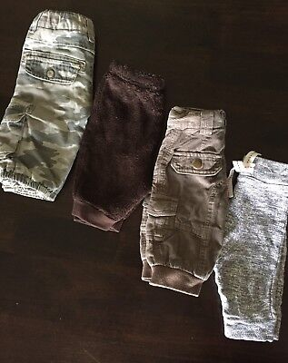 Baby Boy 000 long pants x 4 (Cotton On, Seed)