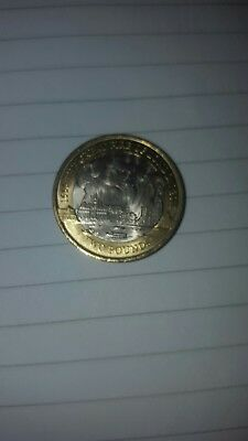 fire of london 2 pound coin