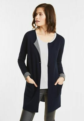 Street One - Langer Doubleface Cardigan in Night Blue